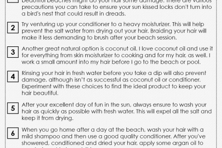 Hair Care Tips for Beach Girls Infographic