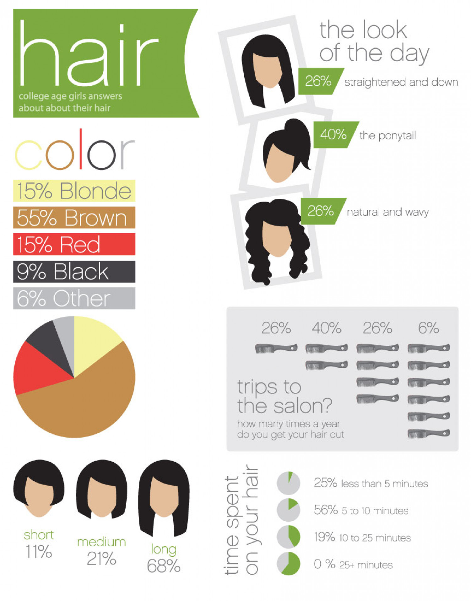 Hair Stats Infographic