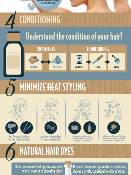 10 Tips for Damaged Hair Infographic