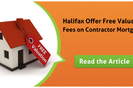 Halifax Offer Free Valuation Fees on Contractor Mortgages Infographic