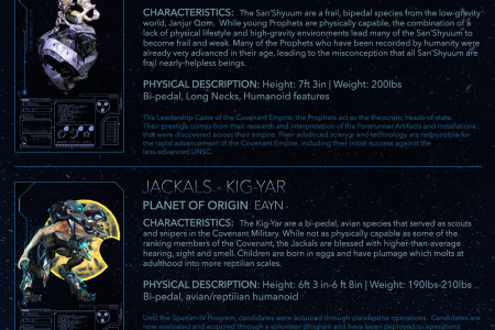 Halo: Index of Alien Species Infographic