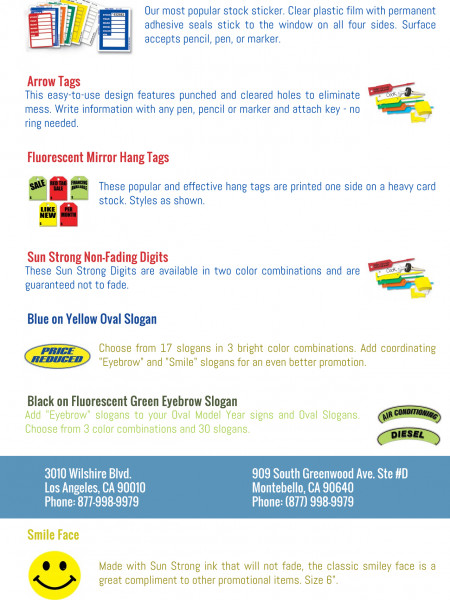 Hang tag stickers los angeles Infographic