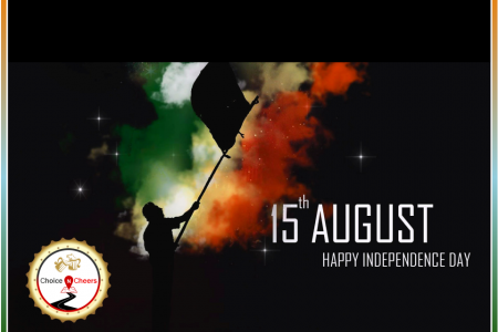 Happy Independence Day Wishes from Choice N Cheers! Infographic