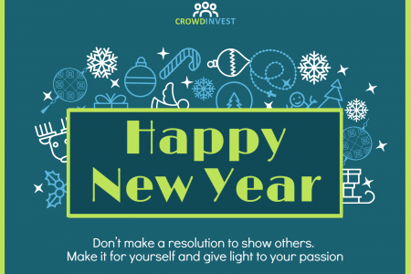 Happy new year form Crowdinvest Infographic
