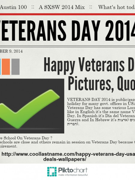 Happy Veterans Day 2015 Infographic
