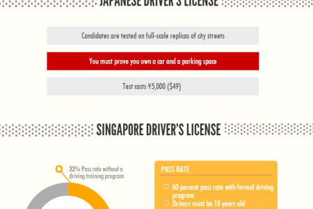 Hardest Places to Obtain A Driver's  License Infographic