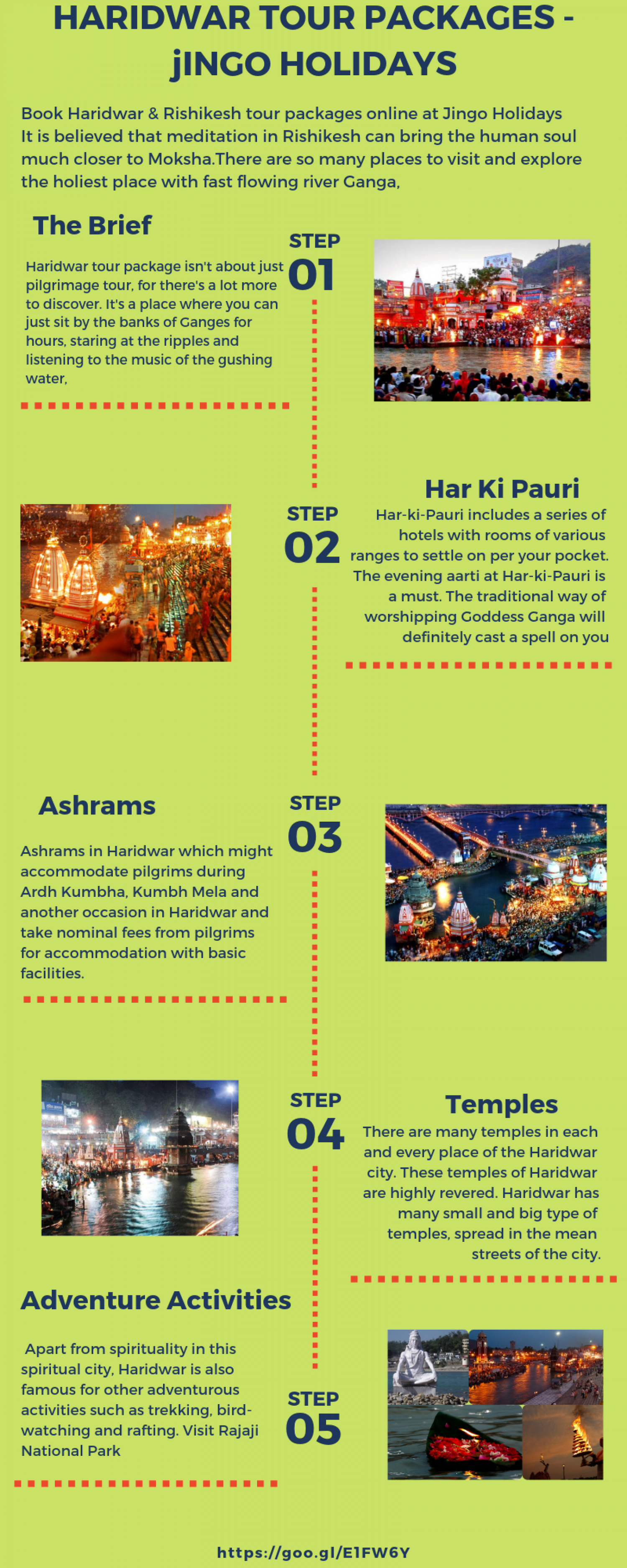 Haridwar tour packages | Book Haridwar tour packages - Jingo  Infographic