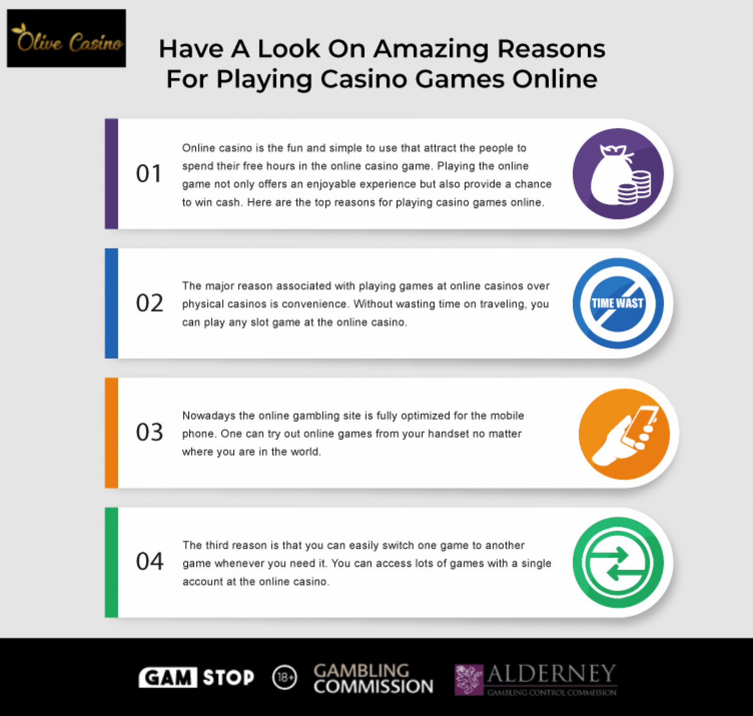 Have A Look On Amazing Reasons For Playing Casino Games Online Infographic