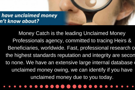 Have you lost your money or you have unclaimed money? Infographic