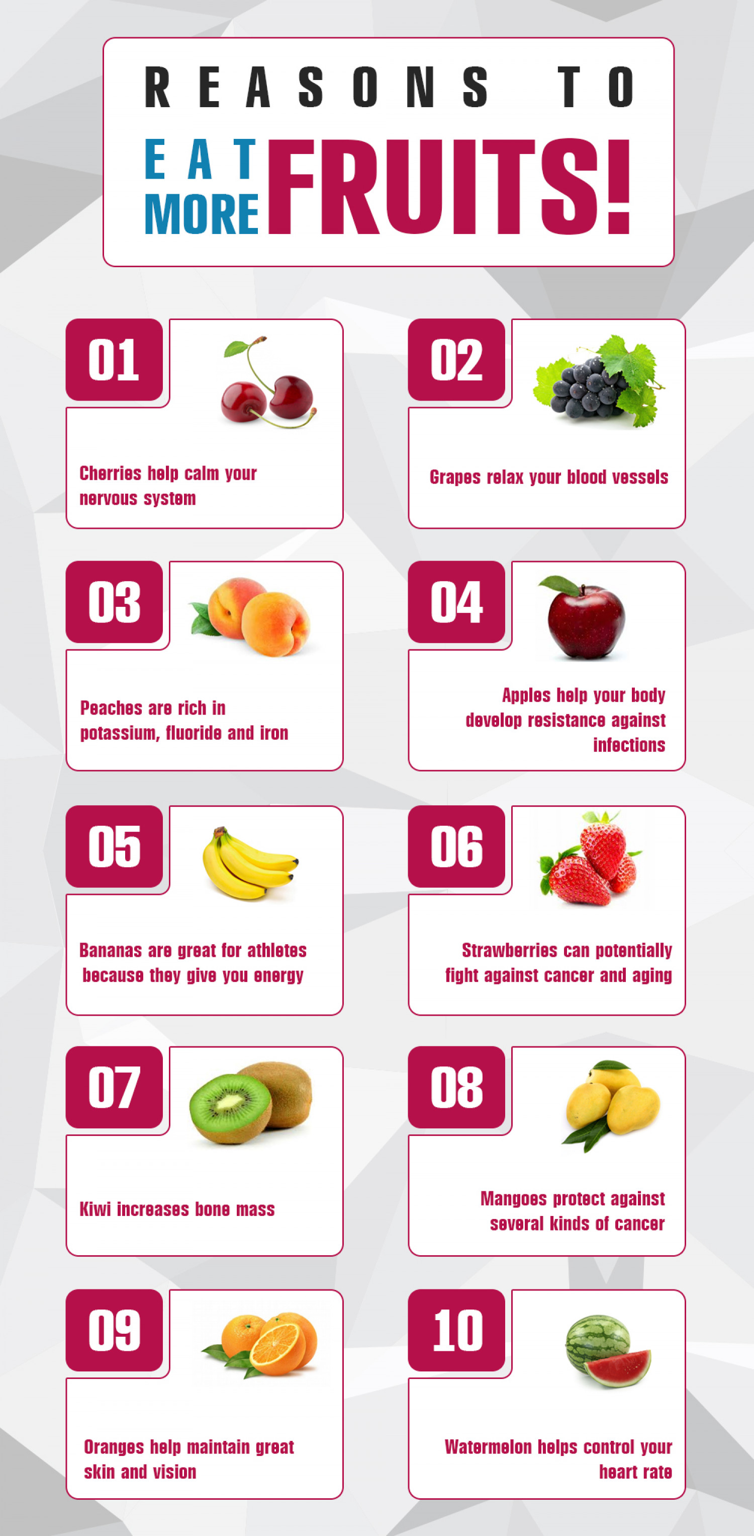 health and nutrition benefits of fruit | visual.ly