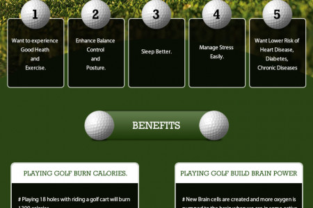 Health Benefits of Golf Infographic