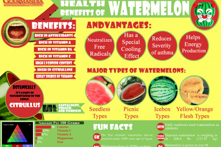 Health Benefits of Watermelon Infographic