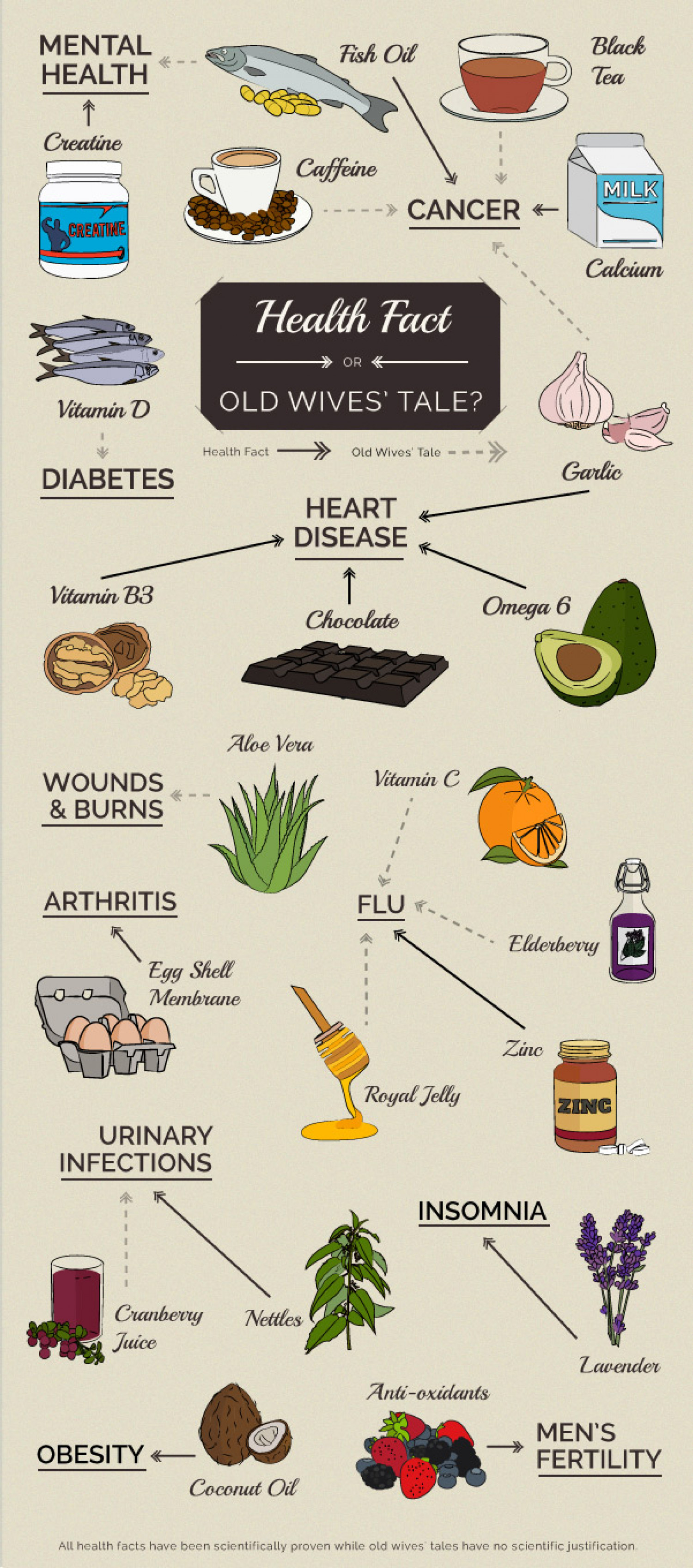 Health Fact or Old Wives' Tales? Infographic