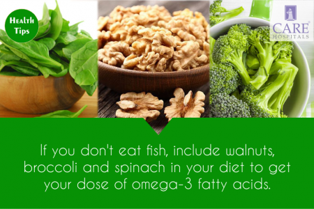 Health tip to get Omega - 3 fatty acid. Infographic