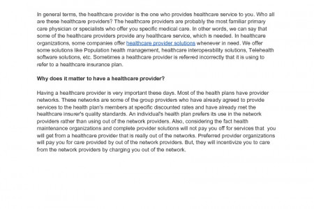 Healthcare Provider Solutions  Infographic