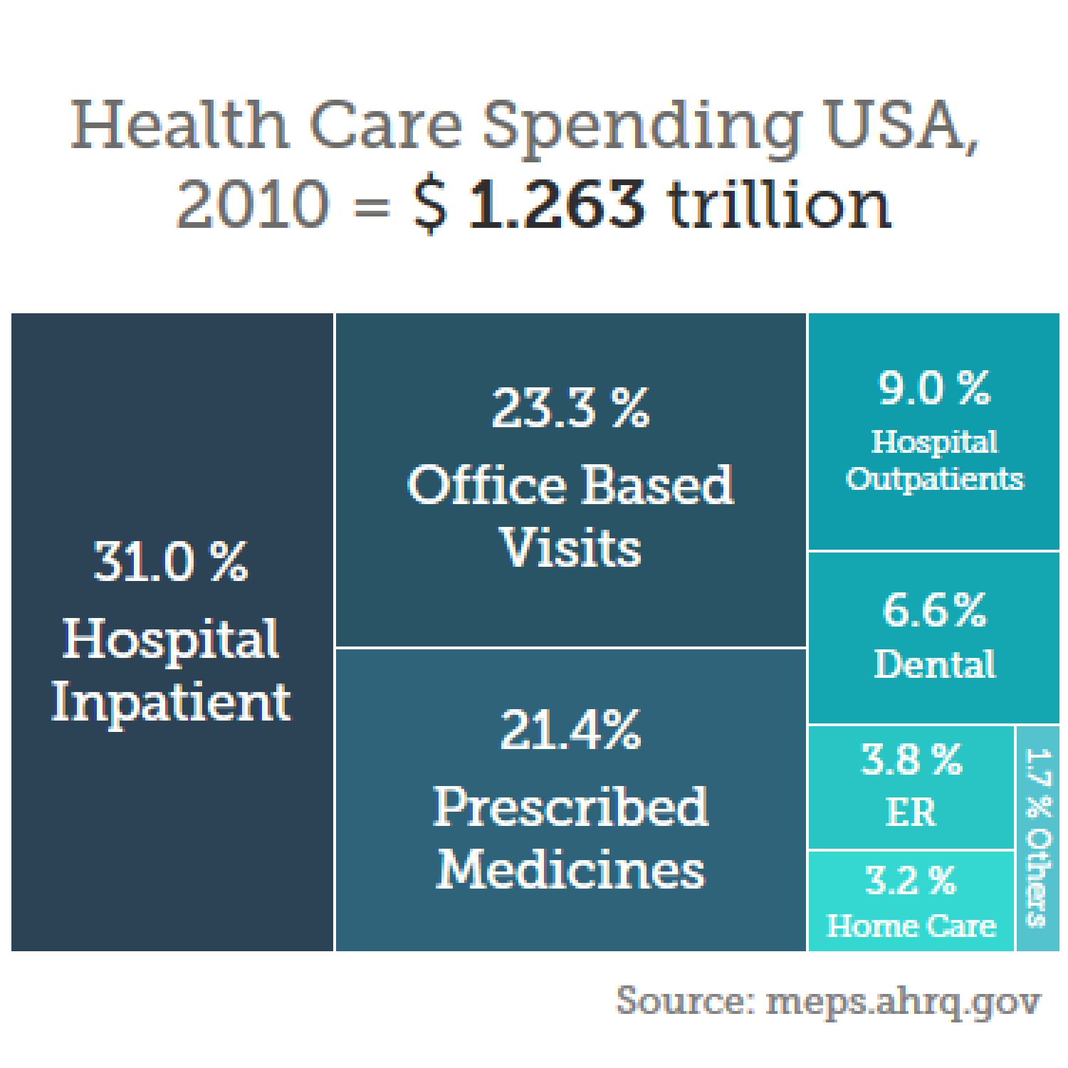 Healthcare Spending Infographic
