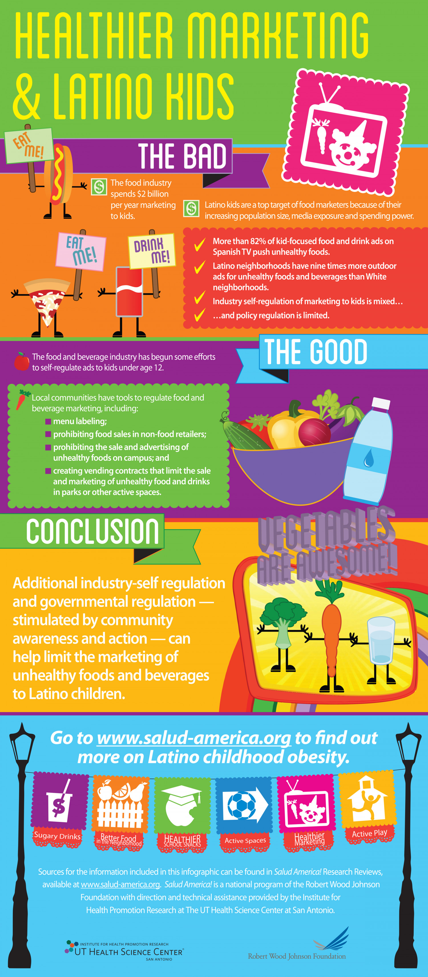 Healthier Marketing & Latino Kids Infographic