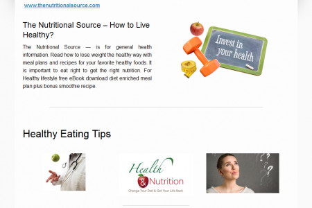 Healthy Eating Tips, Recipes, Diet Plans - The Nutritional Source Infographic