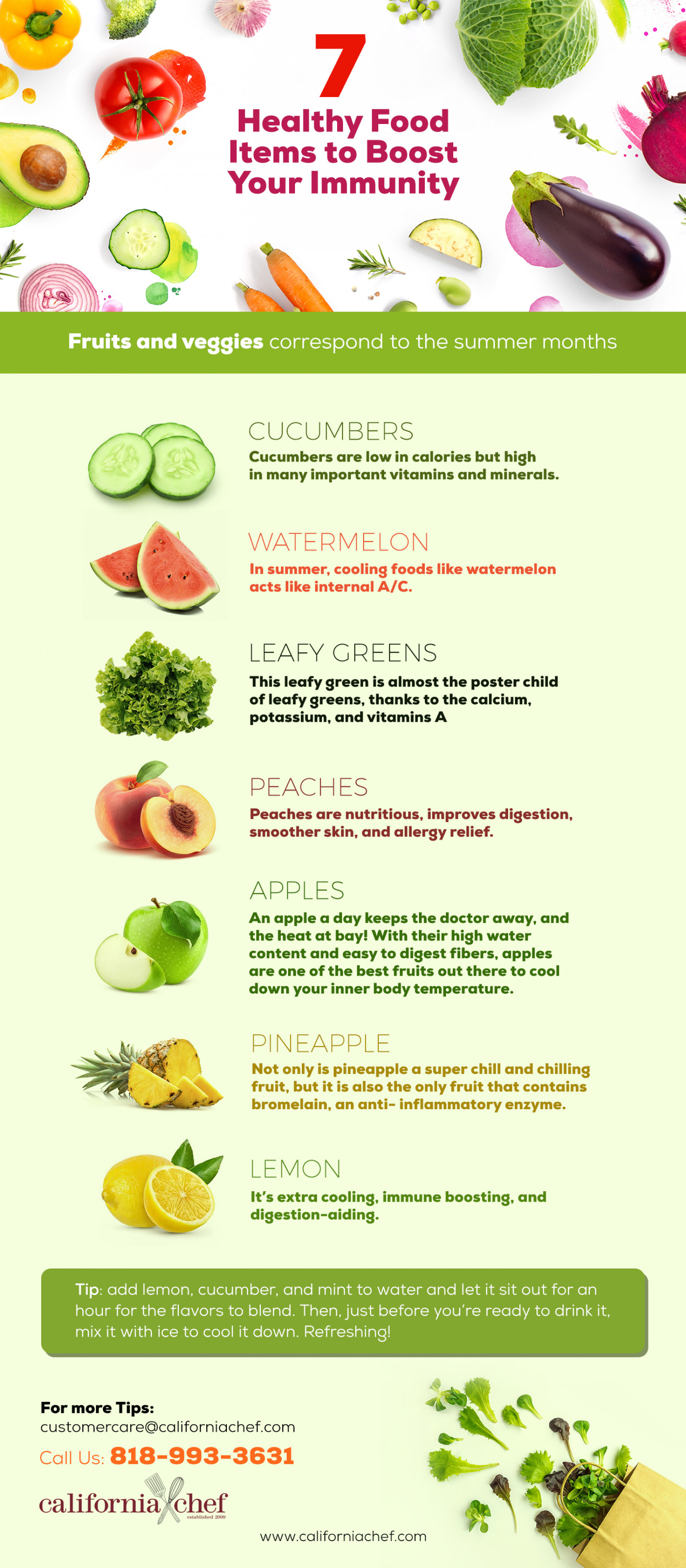 Healthy Food items To Boost your immunity Infographic