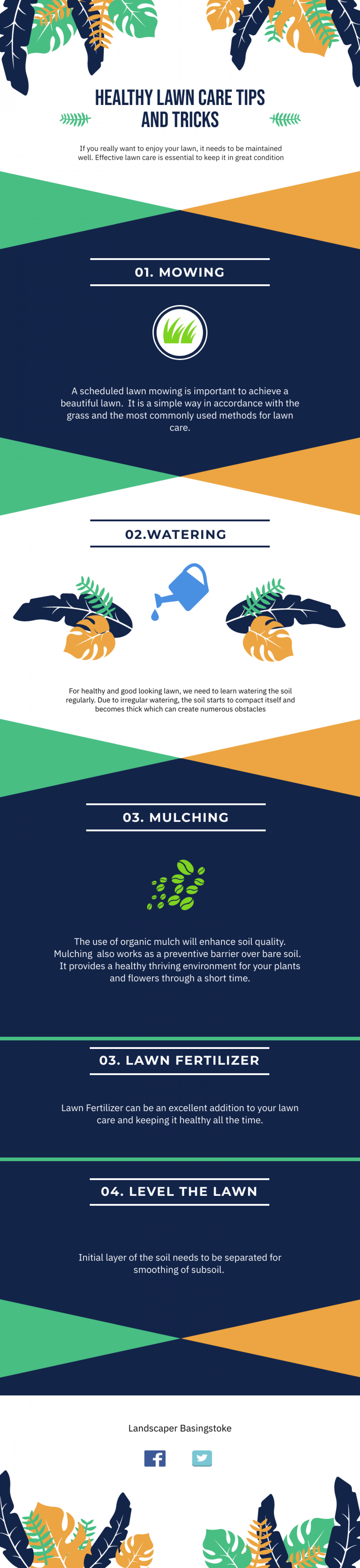 Healthy Lawn Care Tips and Tricks Infographic