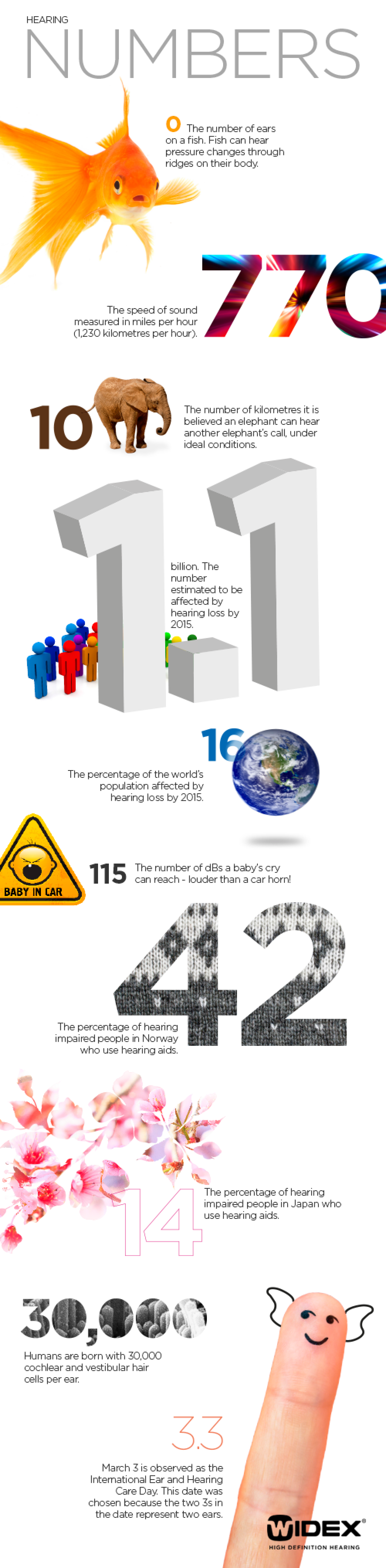 Hearing in numbers Infographic
