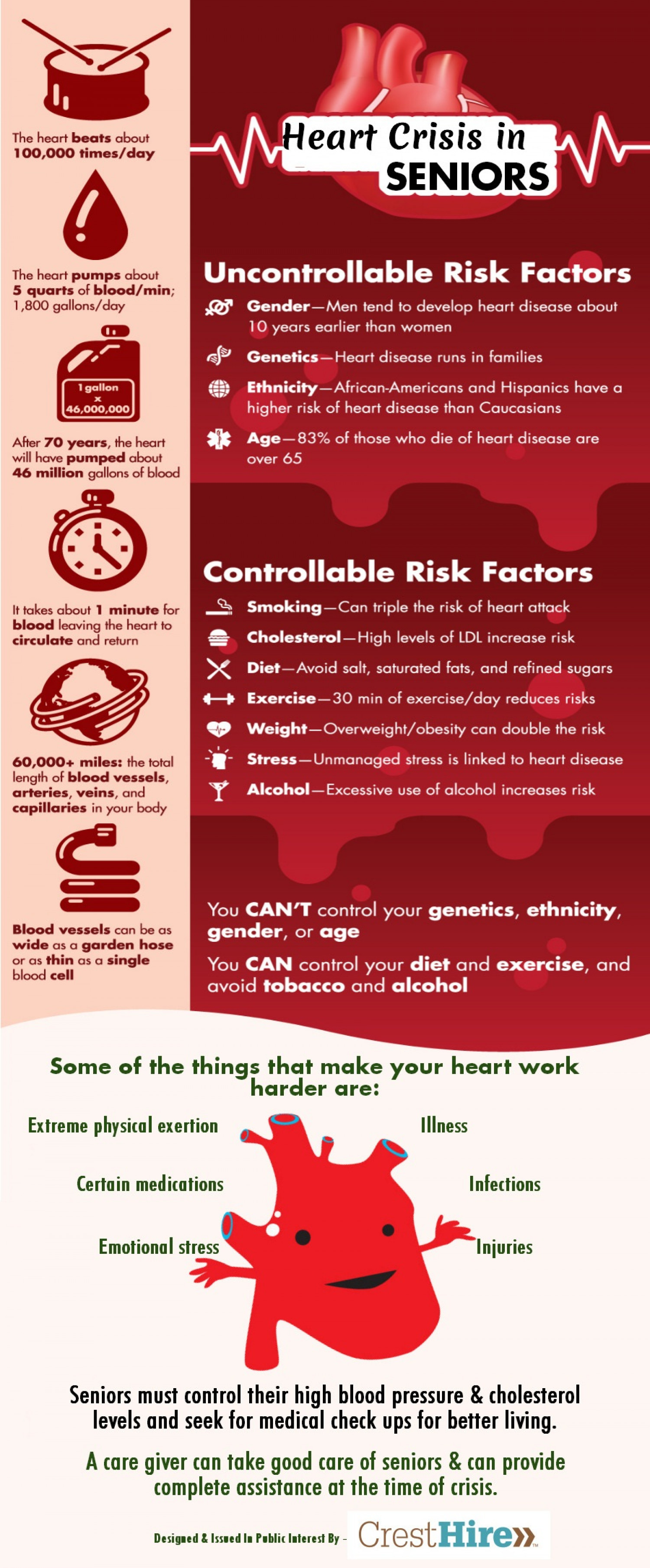 Heart Crisis In Seniors Infographic