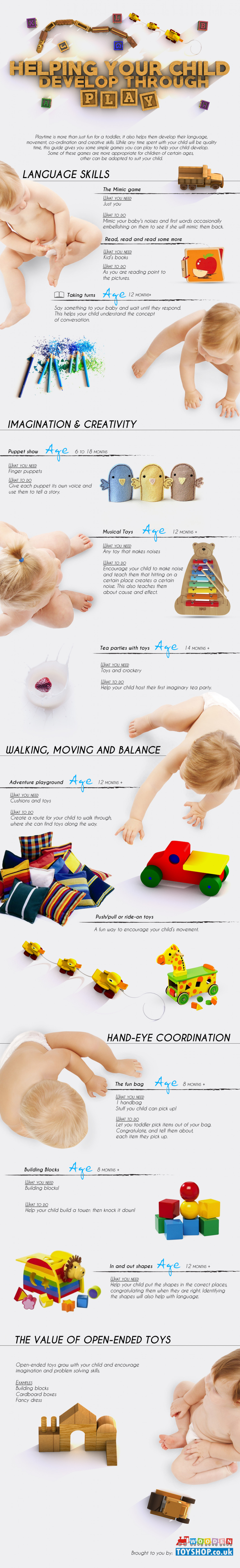 Helping Your Child Develop Through Play Infographic