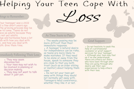 Helping Your Teen Cope with Loss Infographic