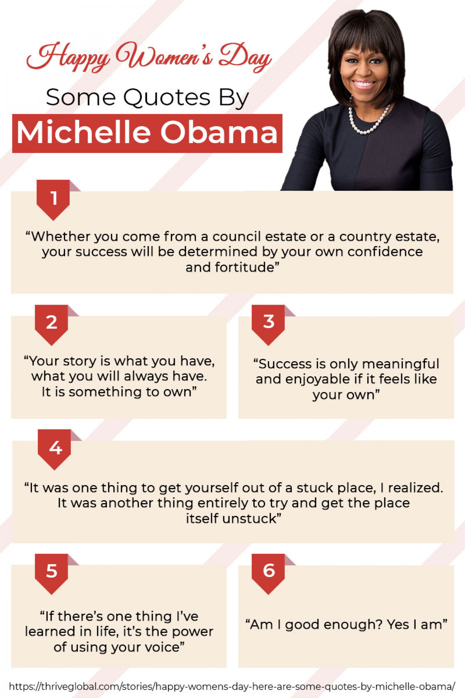 Here Are Some Quotes By Michelle Obama Infographic