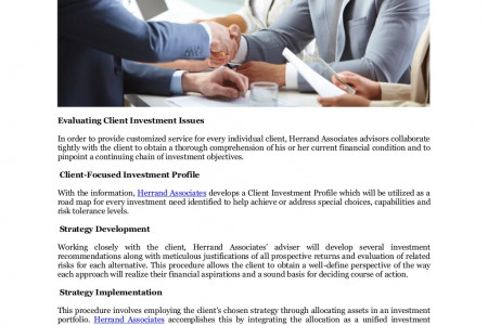 Herrand Associates Wealth Management Singapore, Tokyo Japan: Client Experience Infographic