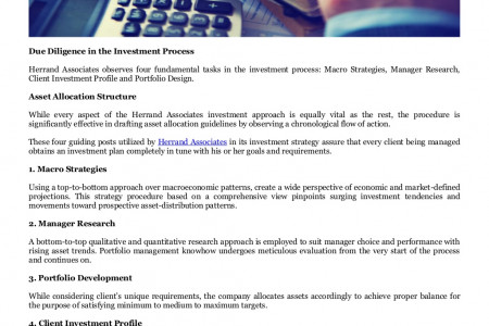 Herrand Associates Wealth Management Singapore, Tokyo Japan's Investment Process Infographic