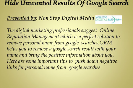 Hide Unwanted Results Of Google Search Infographic