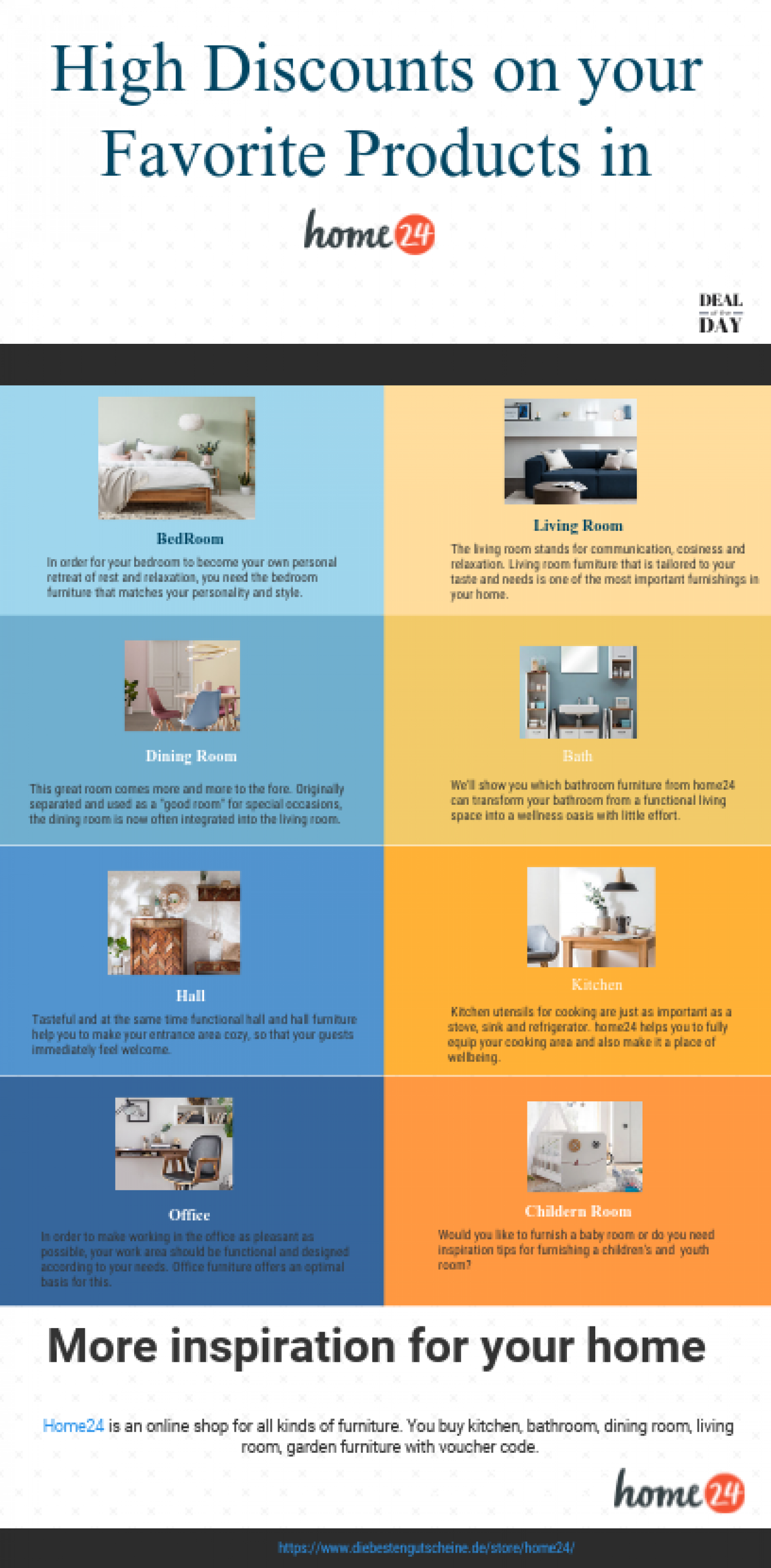 High Discounts on your Favorite Products - Home24 Infographic