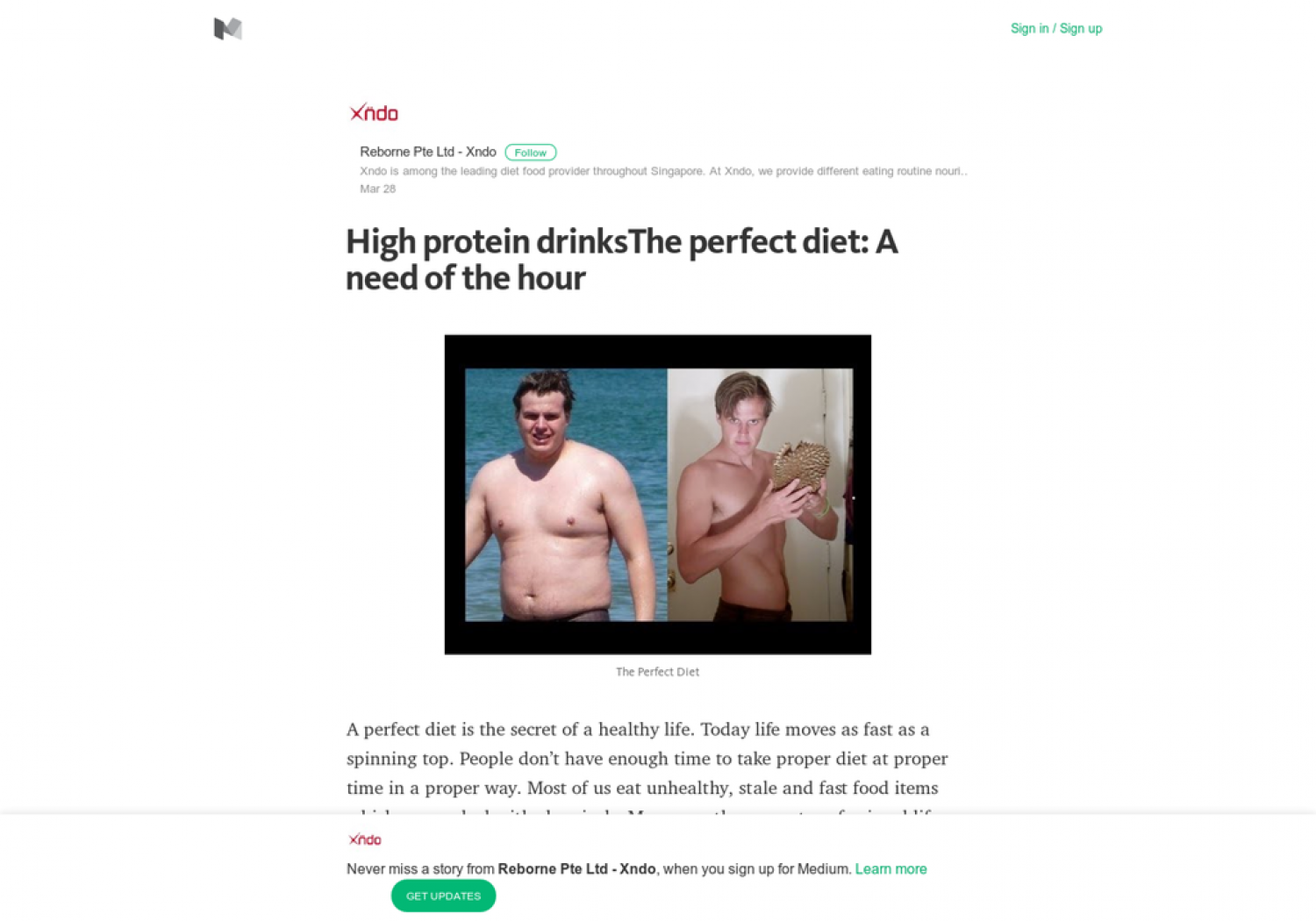 High protein drinksThe perfect diet: A need of the hour Infographic