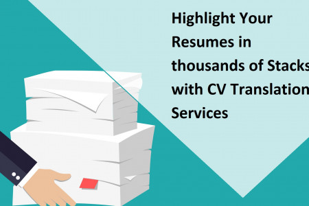 Highlight Your Resumes in thousands of Stacks with CV Translation Services Infographic