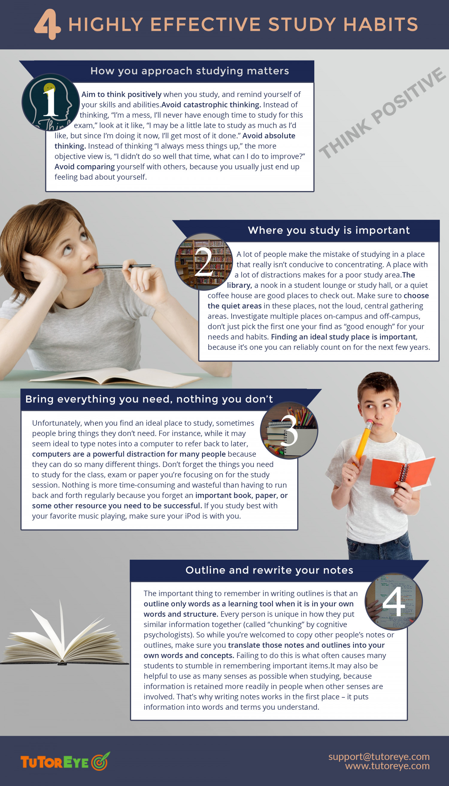 Highly Effective Study Habits Infographic