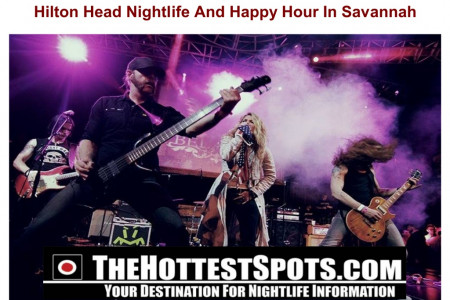 Hilton Head Nightlife And Happy Hour In Savannah Infographic