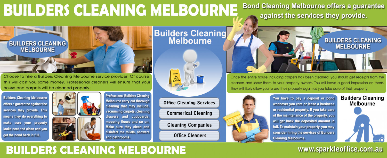 Hire a professional Builders Cleaning Melbourne Infographic