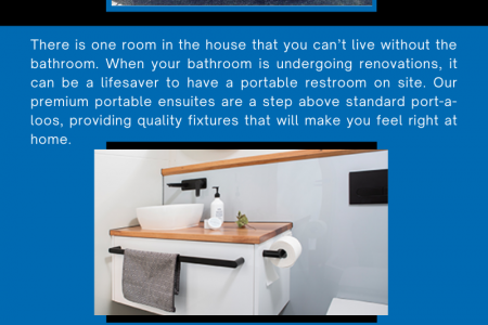 Hire a temporary portable bathroom today across Melbourne! Infographic