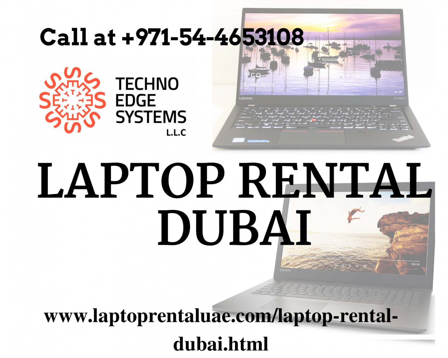 Hire or Lease Laptop Rental services, Dubai - Techno Edge Systems LLC Infographic
