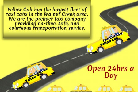 Hire Yellow Cab Services in Walnut Creek Infographic
