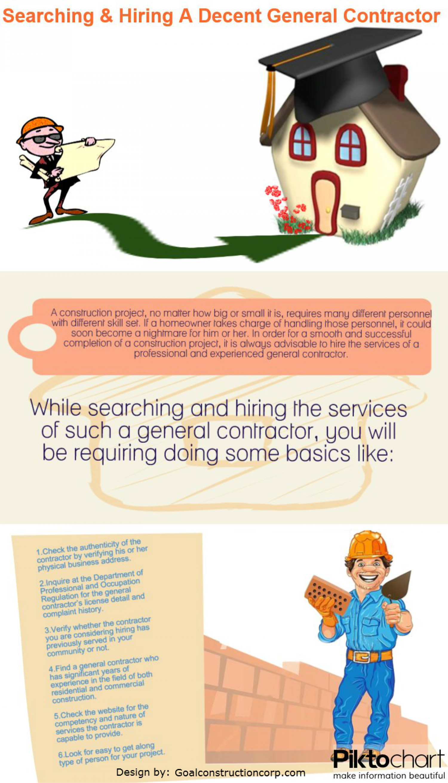 Superbe Hiring A Decent General Contractor Infographic