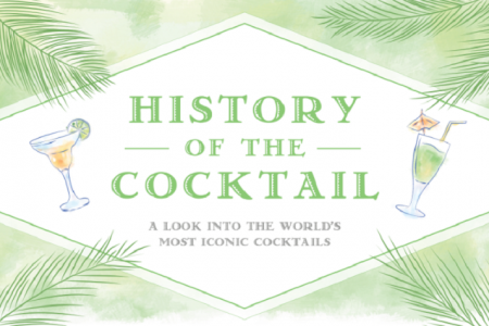 History of the Cocktail | Iconic Cocktails Around the World Infographic
