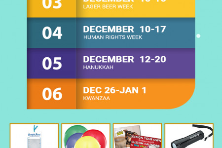 Holiday & Observances in the USA in December 2017 Infographic