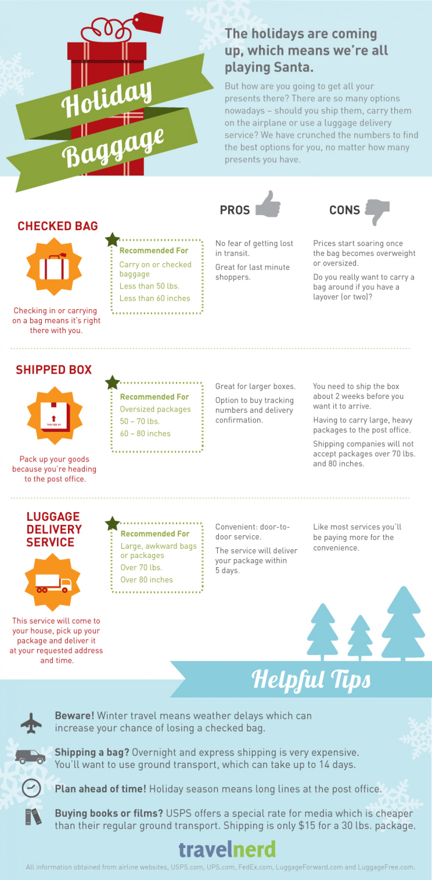 Holiday Baggage Infographic