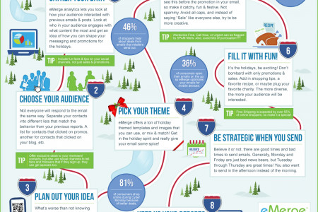 Holiday Email Marketing Tips Infographic