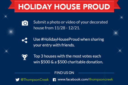 Holiday House Proud Decorating Contest Infographic