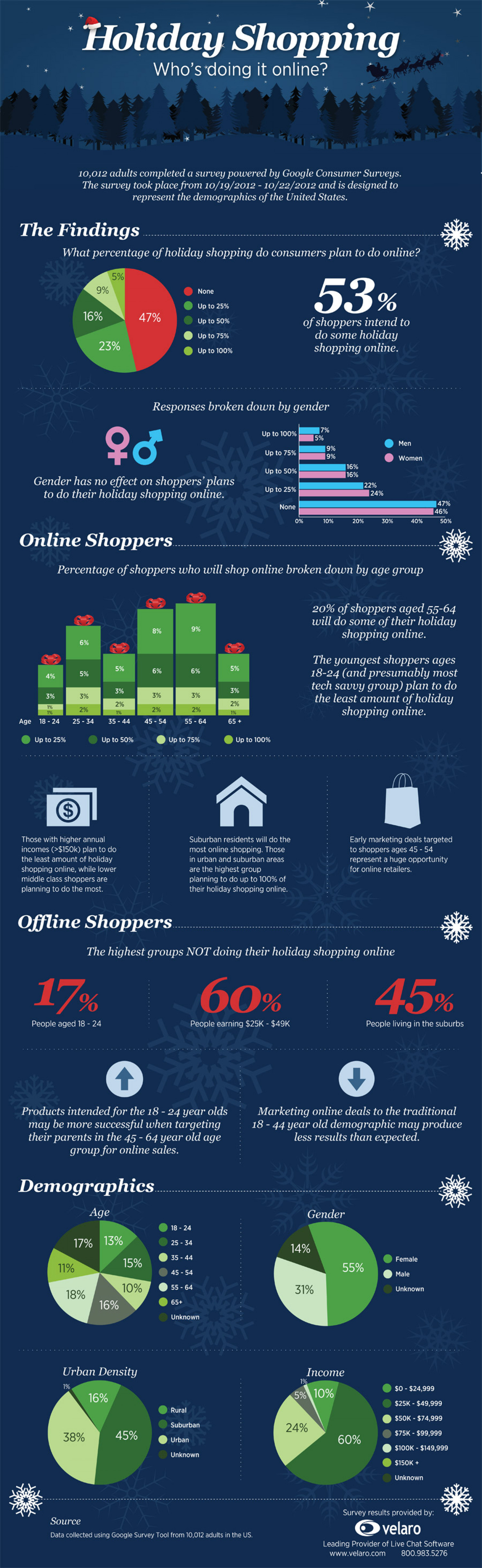 Holiday Shopping: Who's Doing It Online? Infographic