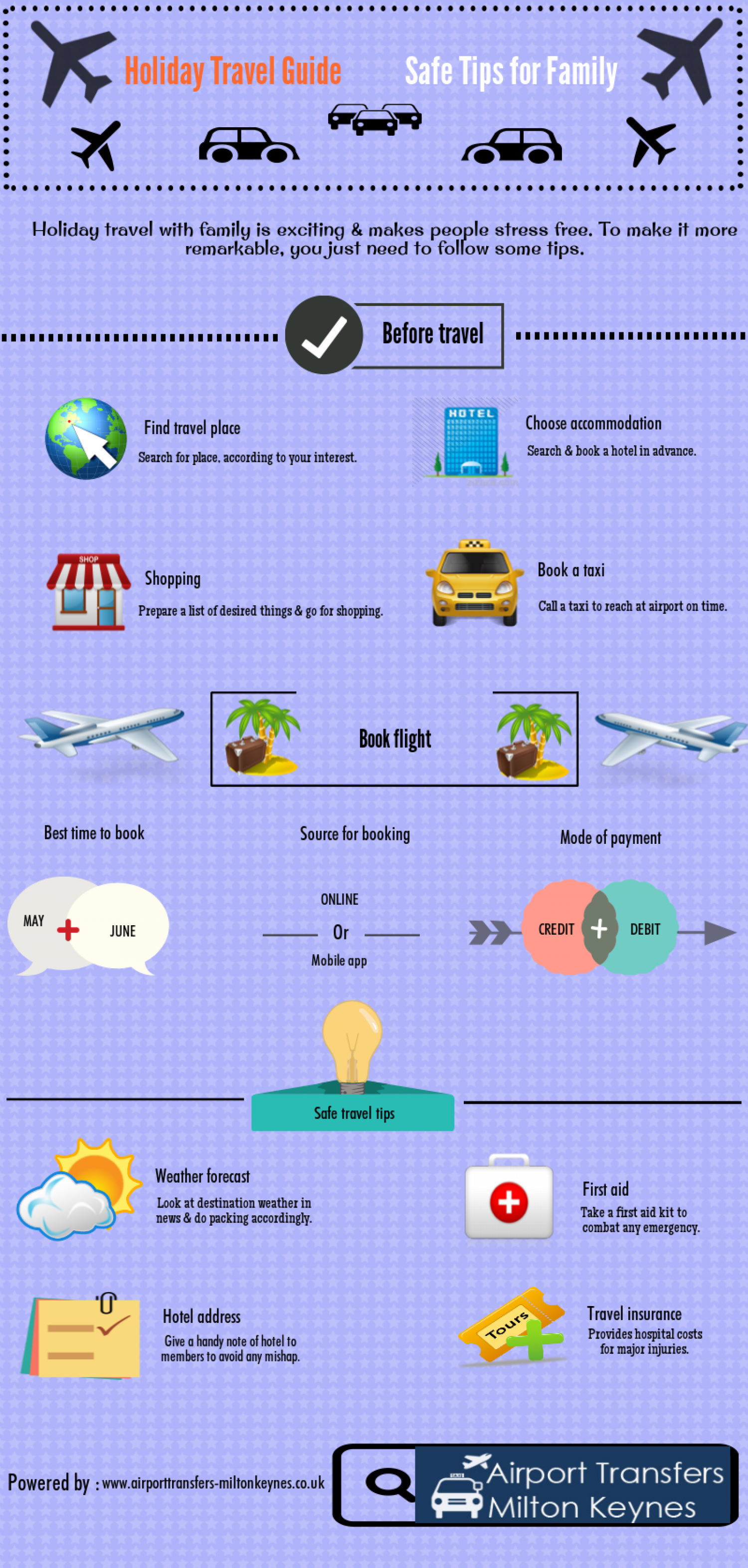 Holiday Travel Guide Safe Tips For Family Infographic