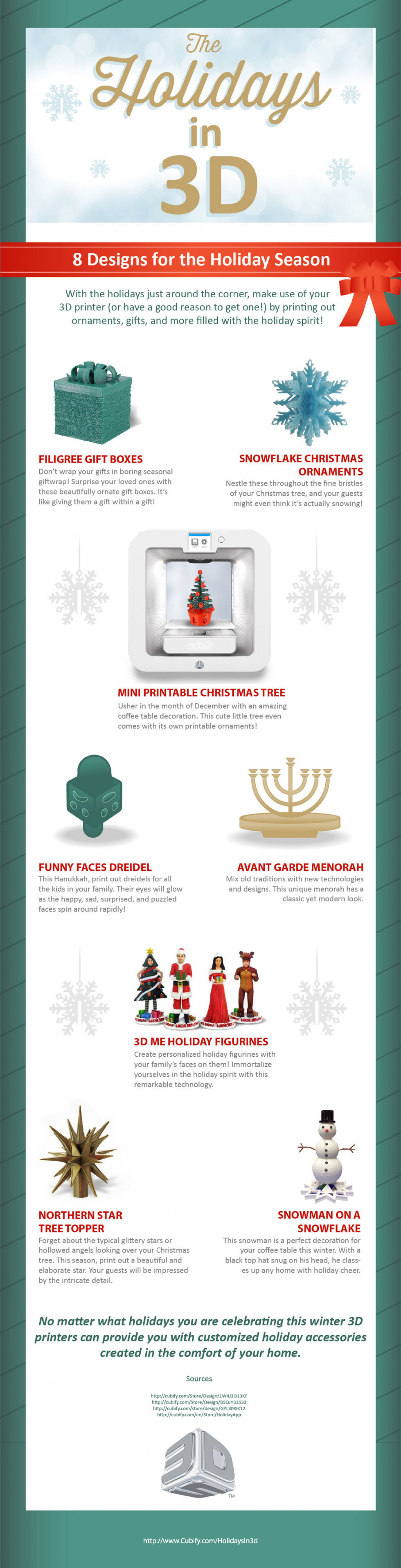 Holidays in 3D Infographic